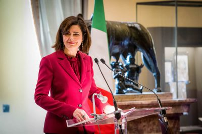 Riccardo Dangelo Italian Innovation Award Laura Boldrini